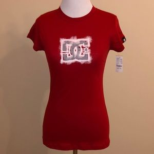 DC Shoes PacSun Red Graphic Tee Shirt SM